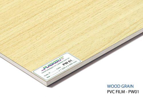 Tấm Plasker phủ PVC giả gỗ PW01