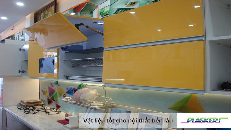 tấm nhựa làm tủ bếp treo tường