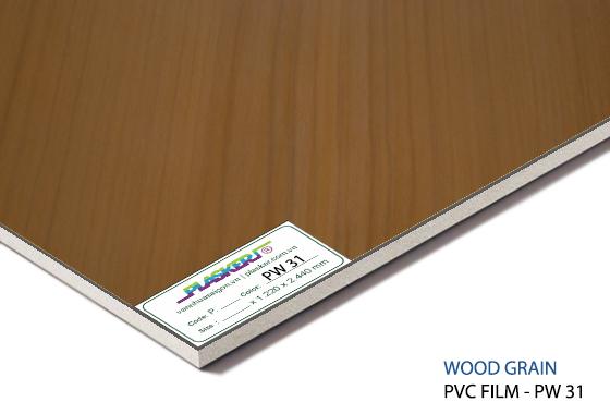 tấm nhựa vân gỗ pvc - PW31