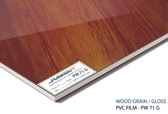 tấm nhựa vân gỗ pvc - PW71G