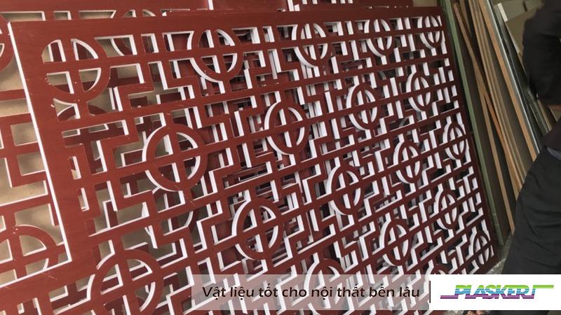 vách ngăn cnc trang trí từ tấm nhựa Plasker