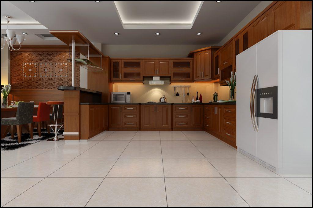 phối cảnh phòng bếp đẹp và hiện đại