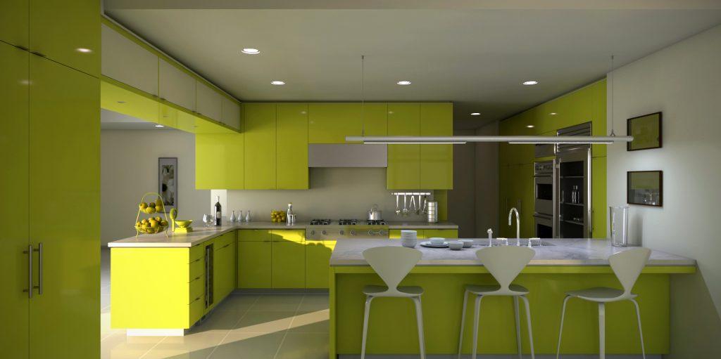 Lựa chọn màu sắc cho tủ bếp đẹp