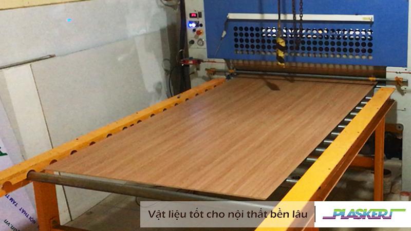 phủ vân bề mặt pvc trên ván gỗ công nghiệp