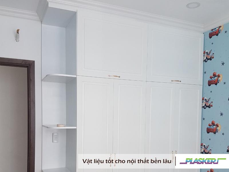 mẫu thiết kế tủ quần áo nhựa tân cổ điển bằng tấm nhựa pvc plasker