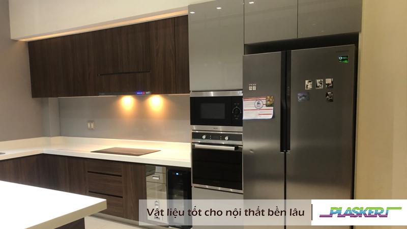 tủ bếp nhựa plasker phủ laminate hiện đại và sang trọng